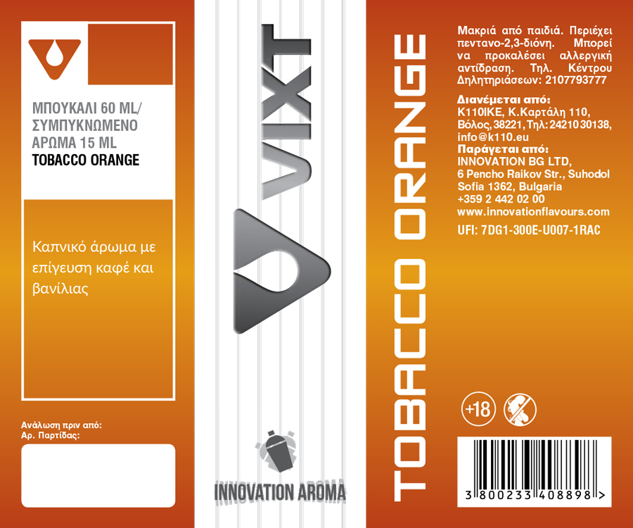 Innovation VIXT Tobacco Orange 15ml/60ml Flavorshot