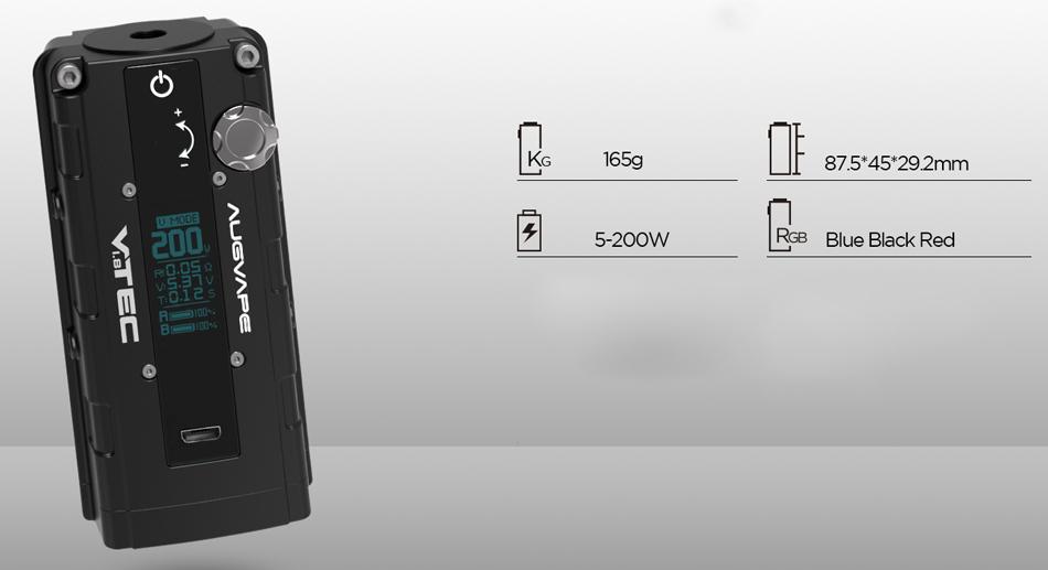 augvape VTEC1.8 200W Box Mod