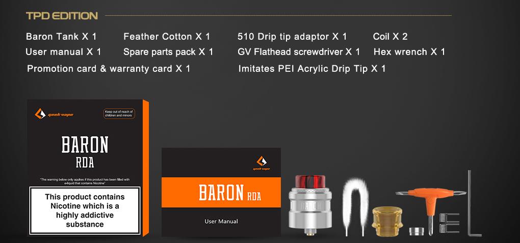 Baron RDA Color Ατμοποιητής GEEKVAPE