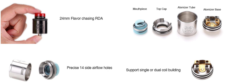 Hellvape Drop Dead RDA Ατμοποιητής