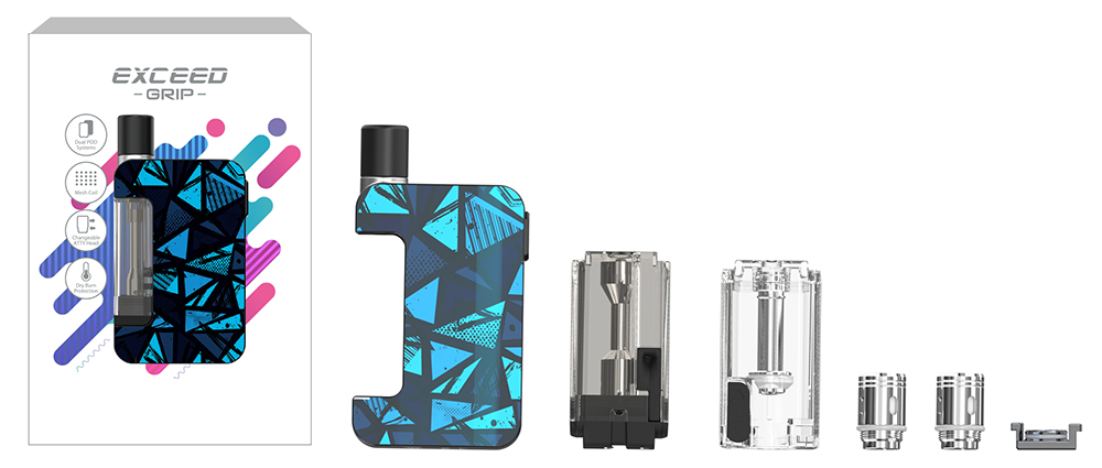 Joyetech Exceed Grip Kit Package Content - JOYETECH EXCEED GRIP KIT 1000mah 20W