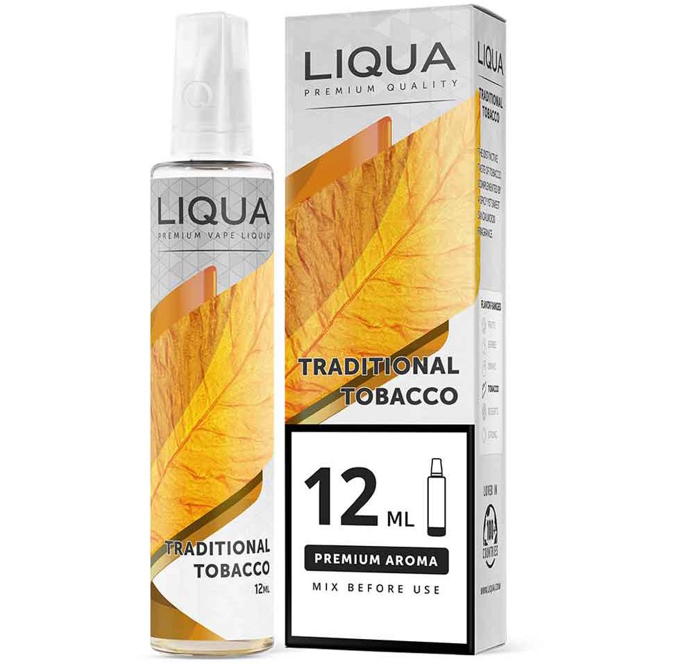 Liqua Traditional Tobacco 12ml/60ml Flavorshot