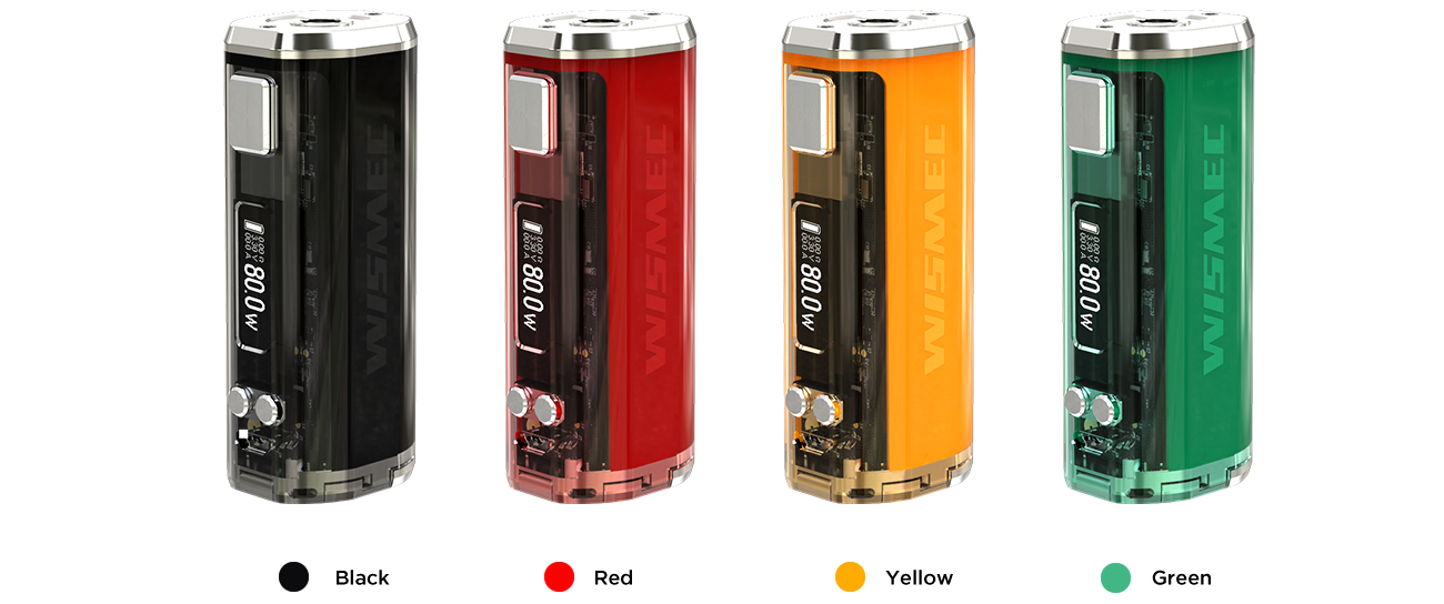Sinuous V80 Mod Wismec 4 colors