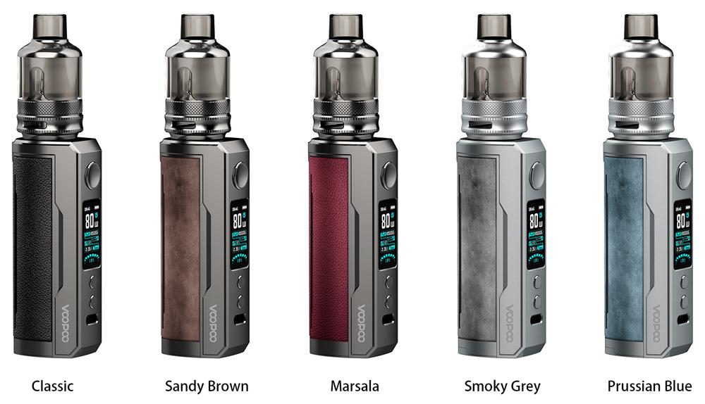 Διαθέσιμο σε πέντε υπέροχα χρώματα, το DRAG X Plus